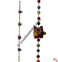 Felt beads-owl decorative hanging2