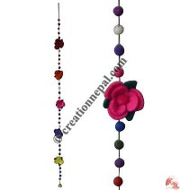 Felt beads-flowers decorative hanging