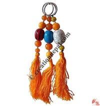 Amber beads key-ring2