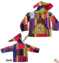 Big-stripes shyama cotton kids jacket