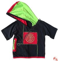 Kids sinkar spiral hooded t-shirt