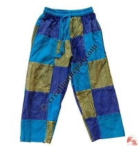 Fine cotton patch-work kids trouser