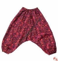 Fine cotton bubble-print kids trouser