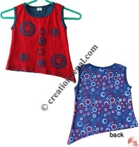 Bubble prints and patch sinkar  kids dress