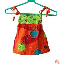 Sinkar cotton kids map dress