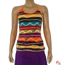 Rib multicolor stripes  tank top