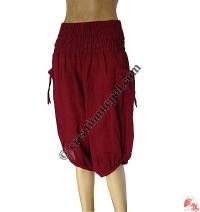 Cotton 3-quarterpipin trouser