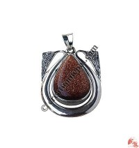 Sun stone TD silver  pendent