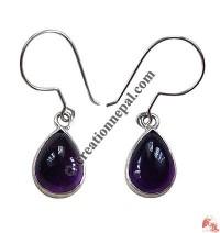 Amethyst TD silver ear rings