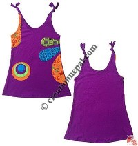 Open strap kids patch dress