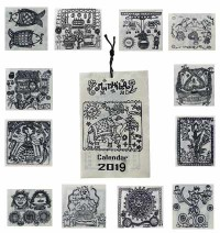 Small handmade paper BW calendar1