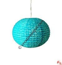Globe shape Lokta paper lampshape4