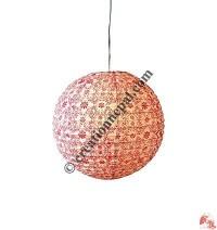 Globe shape Lokta paper lampshape5