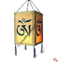 Tibetan OM mantra 4-fold lampshade