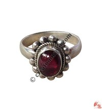 Garnet silver finger ring2