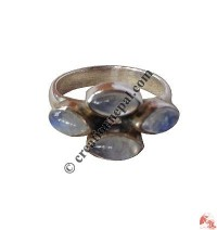 Moon-stone flower finger ring