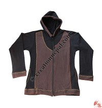 Cotton fleece 2-color jacket