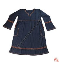 Cotton long sleeves dress