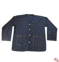 Cotton V-shape neck shirt