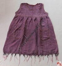 Acrylic-cotton top dress