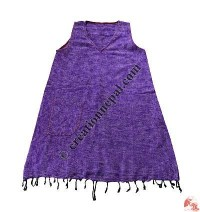 Acrylic-cotton dress