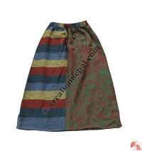 Acrylic-cotton skirt