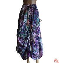 Baggy printed-cotton skirt