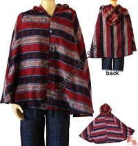 Acrylic-cotton poncho 2