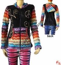 Stripes sleeves rib jacket 1