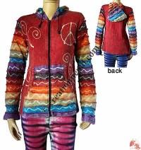 Stripes sleeves rib jacket 2