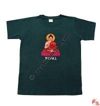 Buddha embroidery t-shirt