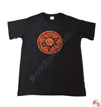 Mandala embroidery t-shirt
