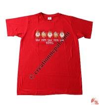 Yak and yeti embroidery t-shirt