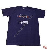 Buddha-Eye embroidery tshirt