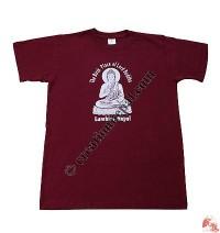Printed Buddha cotton t-shirt 2