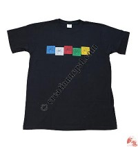 Prayer Flags printed cotton t-shirt