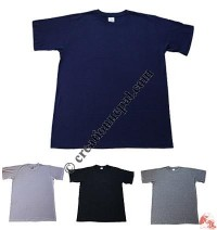 Plain color round-neck t-shirt