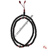 Decorated plain bone beads Mala