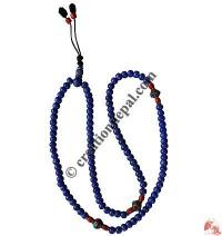 Blue color bone beads Mala