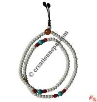 6 mm bone beads Mala 1