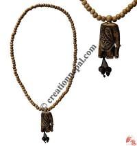 Plain brown beads elephant mala