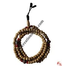 Plain 8 mm beads decorated mala