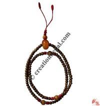 6 mm beads Amber decorated mala