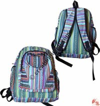 Colorful Gheri cotton backpack 2
