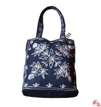 BTC Trapezoid shape emb handbag