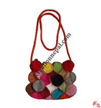 Colorful front circles joined Bag