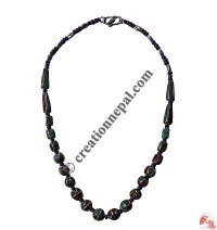 Decorated beads necklace