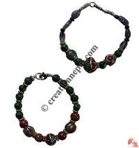 Malachite mixed beads bracelet