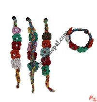 Cotton 5 Flower wristband
