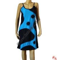 Over-lock joined sinkar dress
